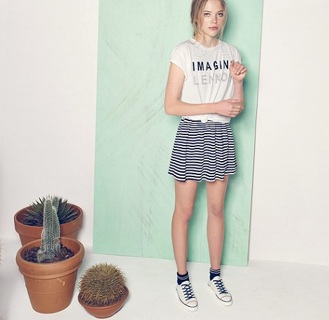 faldas de pull and bear primavera verano 2014