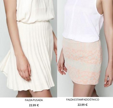 faldas de pull and bear verano 2014