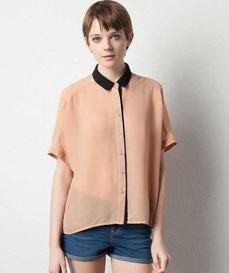 novedades de pull and bear primavera 2012 camisa rosa