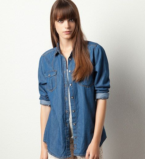 camisa denim de pull and bear para la primavera