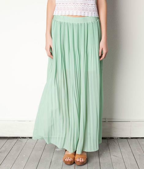 Tendencias primavera verano 2012 de Pull and Bear : faldas largas
