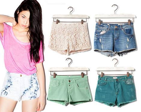 Tendencias primavera verano 2012 de Pull and Bear : shorts
