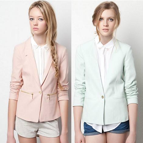 Tendencias primavera verano 2012: blazer colores pastel
