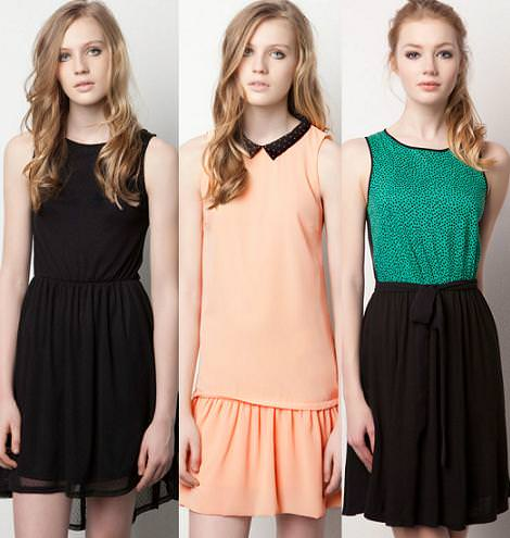 Vestidos Pull and Bear primavera 2012 vuelo