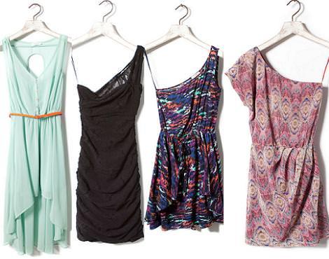 Vestidos Pull and Bear primavera verano 2012asimétricos