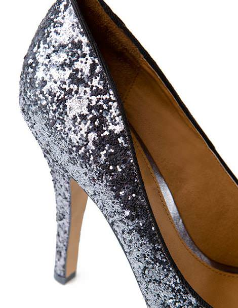 Zapatos peep toe glitter de Pull and Bear