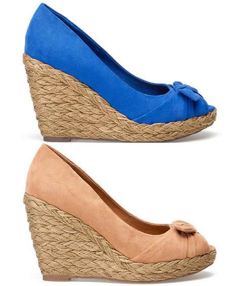 Zapatos Pull and Bear primavera 2012 cuñas esparto