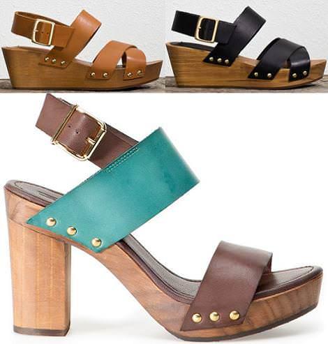 Zapatos Pull and Bear primavera 2012 zuecos