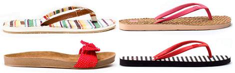 Zapatos de Pull and Bear primavera verano 2012: Chanclas