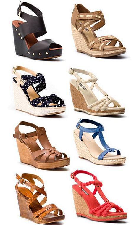 Zapatos de Pull and Bear primavera verano 2012: Sandalias cuña