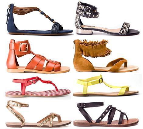 Zapatos de Pull and Bear primavera verano 2012: Sandalias planas