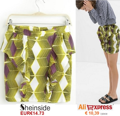 falda de Sheinside vs Aliexpress primavera verano 2014