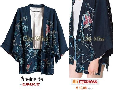 kimono de Sheinside vs Aliexpress primavera verano 2014