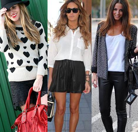 Street style: Black and white