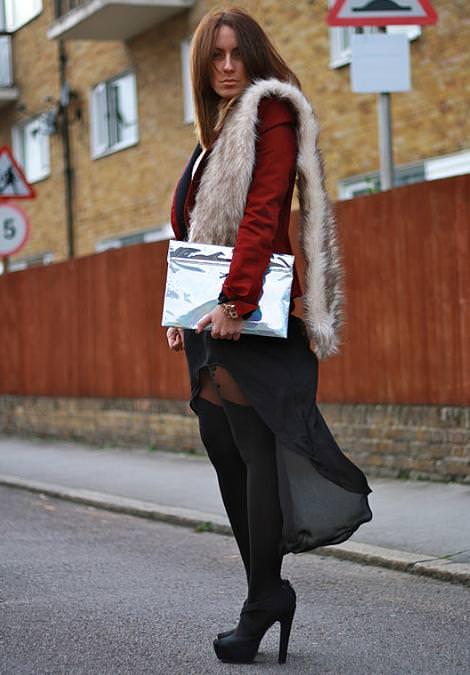 Street style de faldas asimétricas