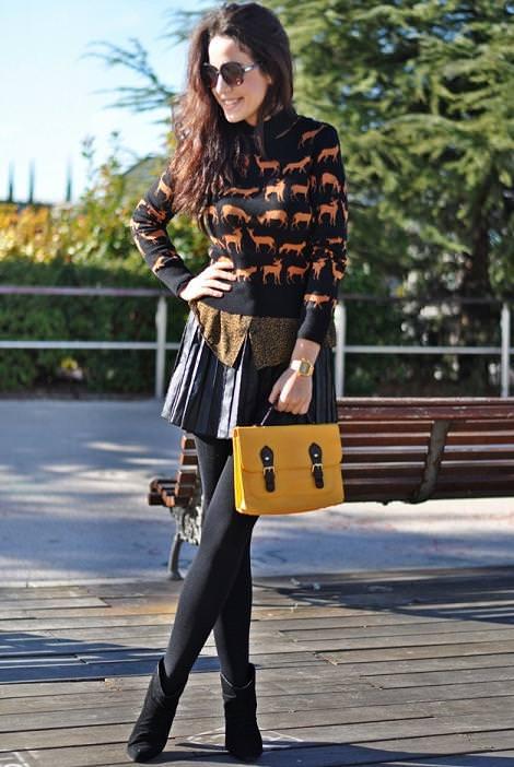 Street style con las nuevas tendencias del invierno 2012: jerséis de animales