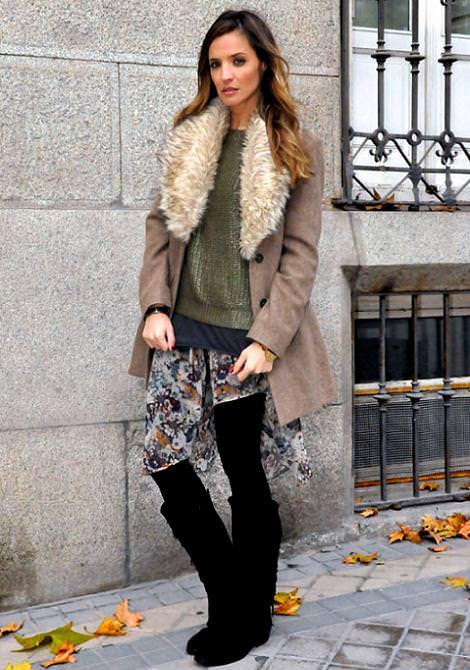 Street style con las nuevas tendencias del invierno 2012: faldas asimétricas