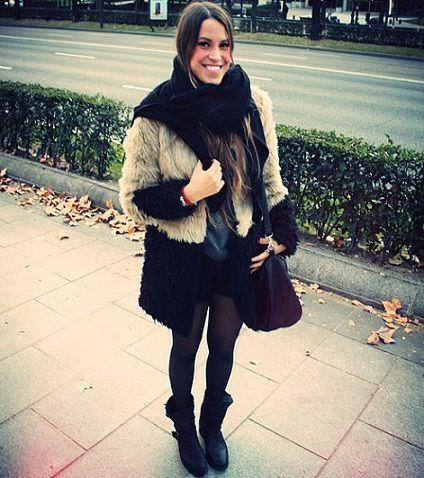 street style abrigo de pelo