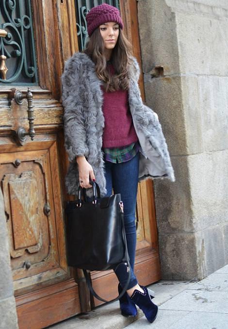Street style con la ropa de moda del invierno 2013