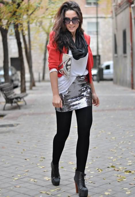 Street style con las tendencias de fiesta