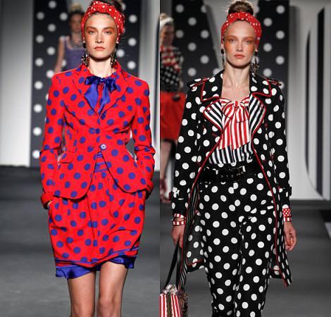 Estampado de lunares o topos, moda primavera 2011