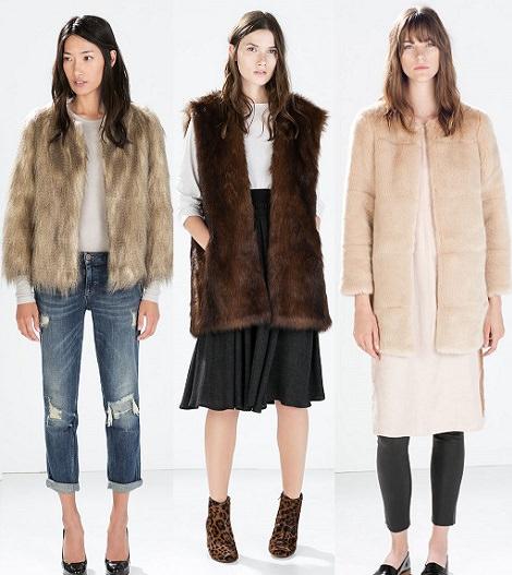 abrigos de pelo de zara otoño invierno 2014 2015
