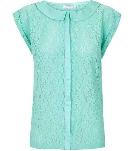 tendencias las camisas con cuello bebe de la primavera color pastel blanco
