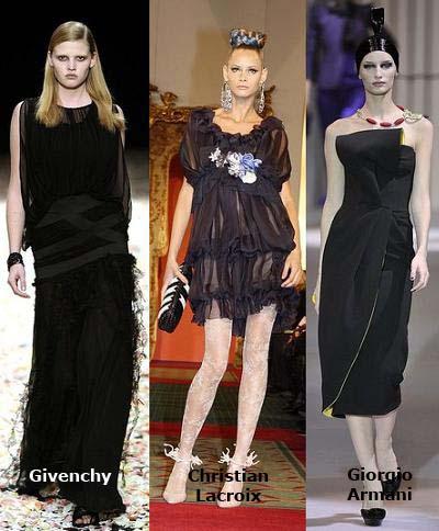 moda primavera verano 2009, el negro