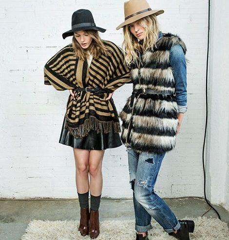 ponchos de moda otoño invierno 2015
