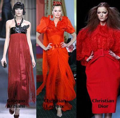 moda primavera verano 2009, el rojo
