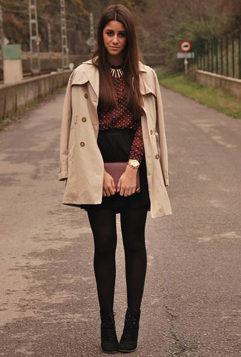 Tendencias de moda del invierno 2012: lunares