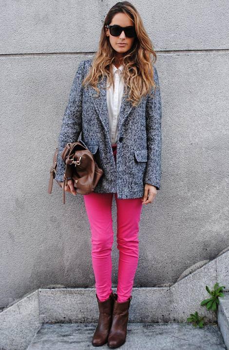 Tendencias de moda del invierno 2012: estilo masculino y colores fluor