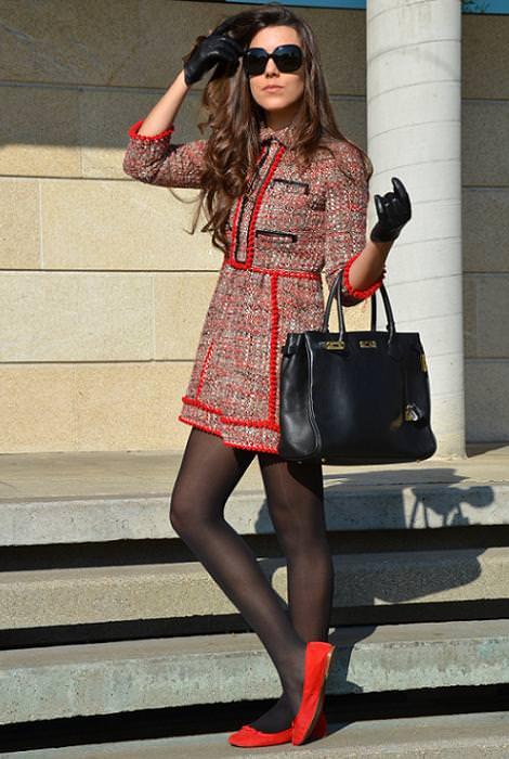 Tendencias de moda del invierno 2012: vestido de tweed