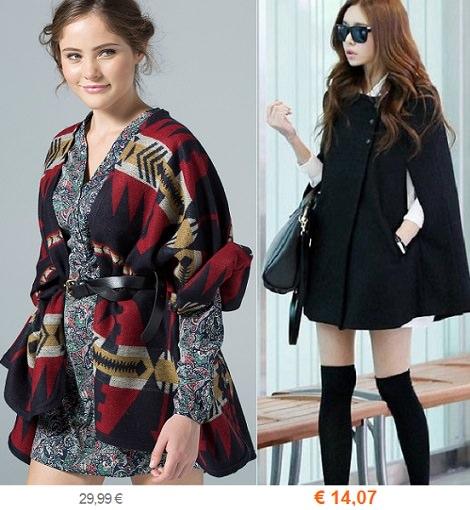 ponchos y capas de moda otoño invierno 2014 2015