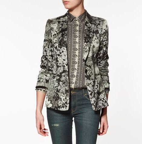 Tendencias! Blazers estampados de Zara