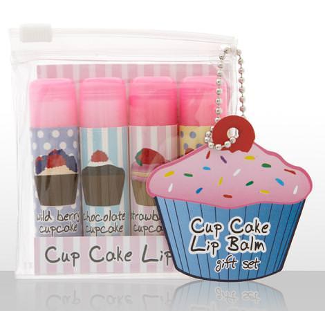 Maquillaje y labiales con forma de cupcakes