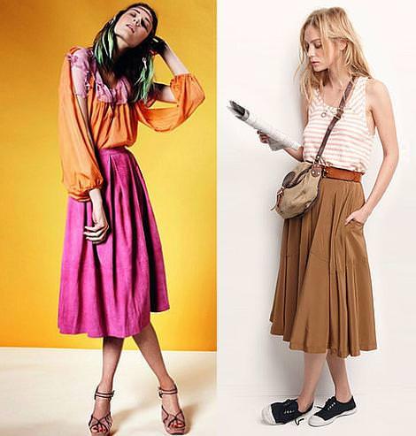 Faldas largas, moda primavera verano 2011
