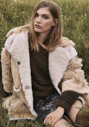 abrigo de borrego de Topshop otoño invierno 2014 2015