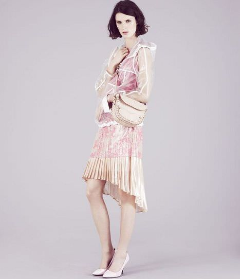 catalogo de topshop vestido asimetrico