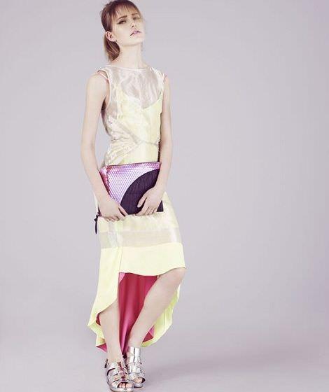 catalogo de topshop vestido asimetrico de gala