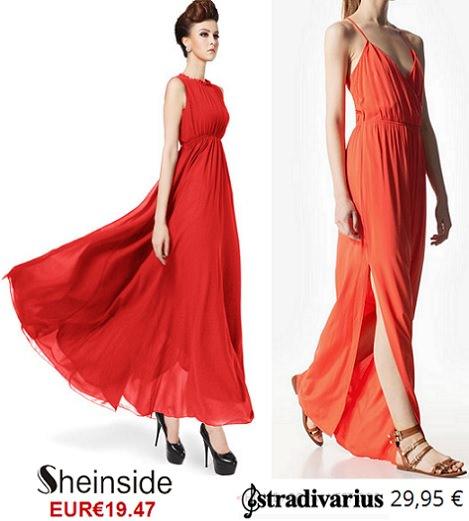 Vestidos rojos para invitadas verano 2014 largos