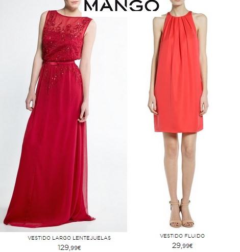 Vestidos rojos para invitadas verano 2014 Mango