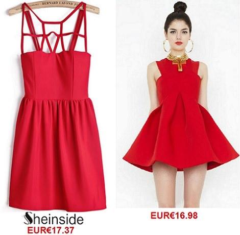Vestidos rojos para invitadas verano 2014 Sheinside