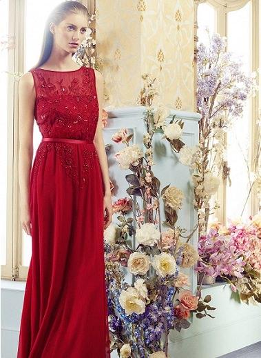 Vestidos rojos para invitadas verano 2014