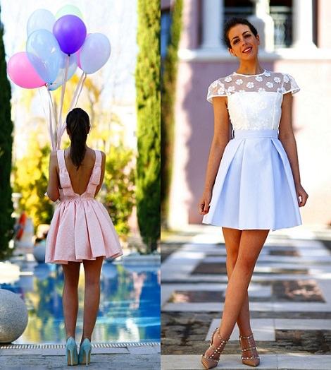 vestidos de fiesta cortos de silvia navarro online verano 2014