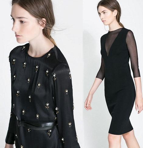 Combinar vestido negro basico