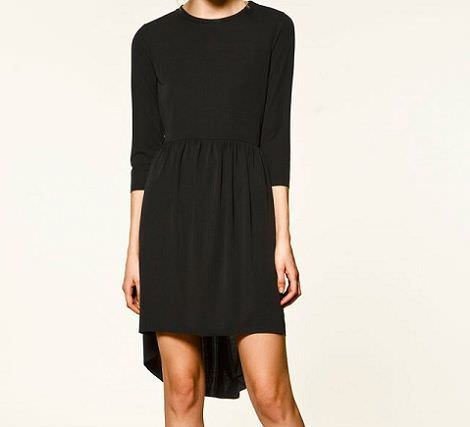 nuevo vestido con bajo asimetrico de Zara