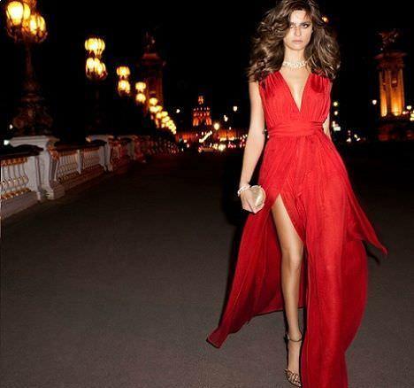Vestidos rojos nochevieja 2015