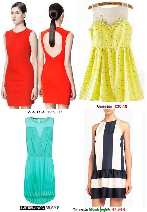 Vestidos cortos de fiesta primavera verano 2013