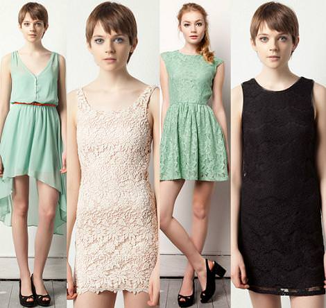 Vestidos de fiesta cortos 2012 Pull and Bear